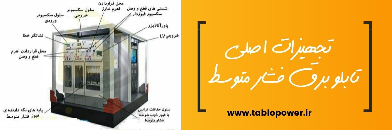 تجهیزات اصلی تابلو برق فشار متوسط